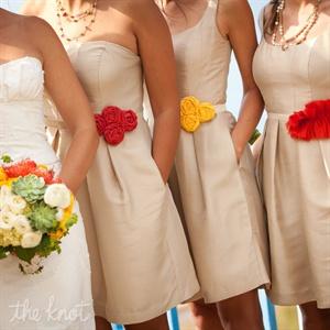 Colorful Bridesmaid Belts