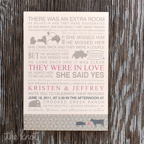 Love Story Invitations