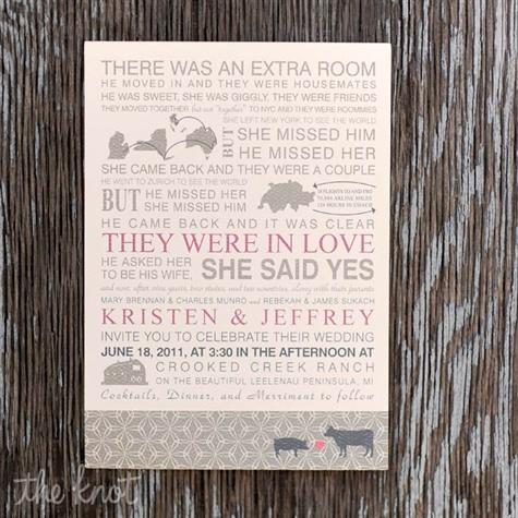 Love Story Invitations