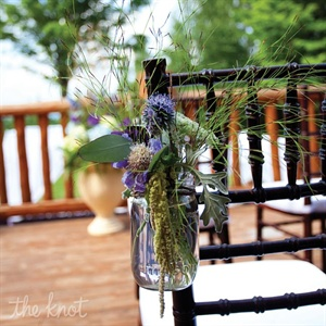 Purple and Green Ceremony Decor