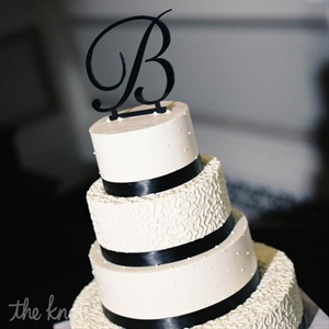 Four Layer Black & White Cake