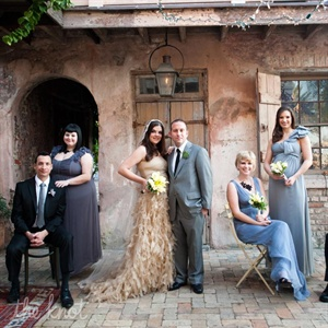 Light Blue and Gray Bridesmaid Dresses