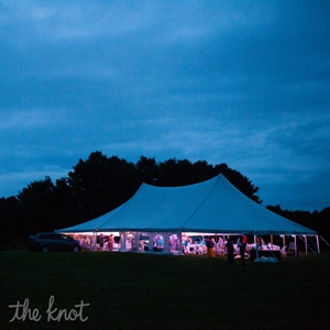 Outdoor Reception at Wolfe Neck Farms