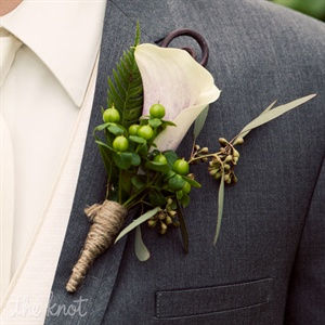 White Calla Lily Boutonniere