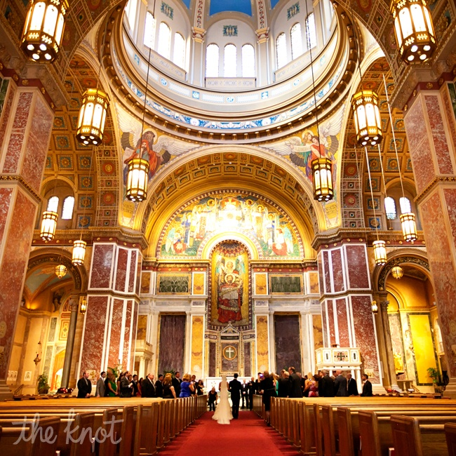 They had a Catholic ceremony at the St. Matthews the Apostle Cathedral in Washington, DC, a national historic place.
