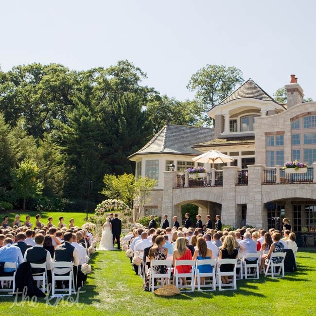 The ceremony took place at a private residence on Lake Macatawa in Holland.