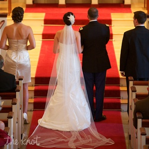 The Bride and Groom chose to use the traditional vows for their ceremony which took place in a traditional Congregational Church.
