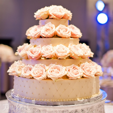 Four-Tier Cake with Roses