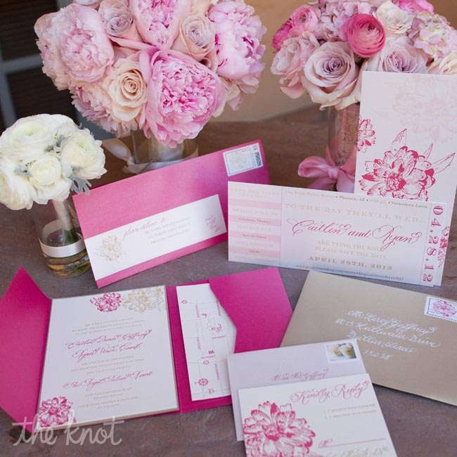 MJ Paperie created the save-the-dates that resembled concert tickets to showcase how Caitlin and Ryan first met. They met at an OAR concert.
