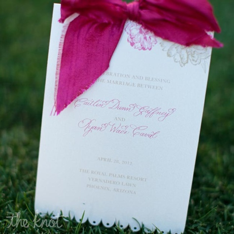 Pink Wedding Programs