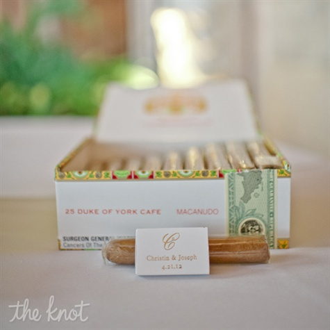 Monogrammed Cigar Favors