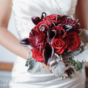 Bold Red Winter Bridal Bouquet