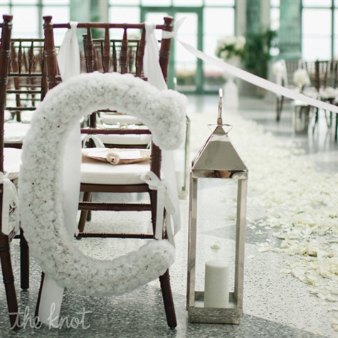 Floral Initial Ceremony Decor