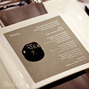Gray Modern Menu Cards
