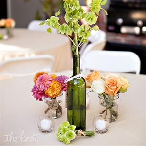 Upcycled Wine Bottle DIY Centerpieces
