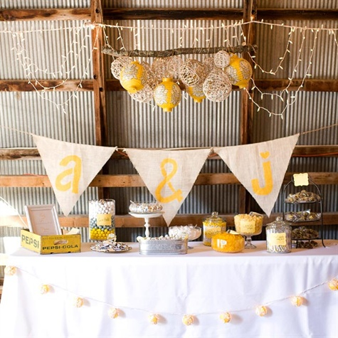 Yellow Wedding Candy Bar