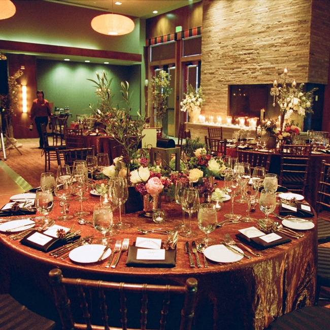 The natural centerpieces blended very well with the natural decor of the venue.
