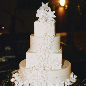 Four-Tier White Winter Cake