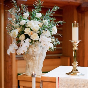 White Ceremony Flower Arrangement