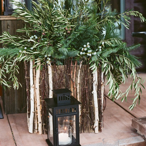 Evergreen Winter Centerpiece