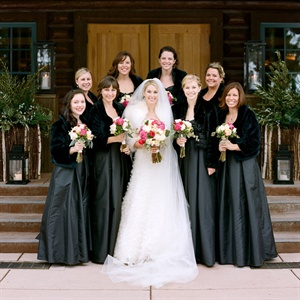 Black Winter Bridesmaid Dresses