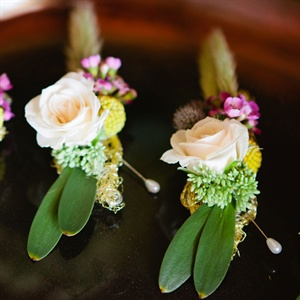 Rose and Wildflower Boutonnieres