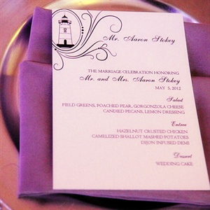 Purple Reception Menu