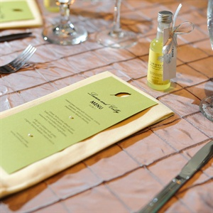 Green Wedding Menus