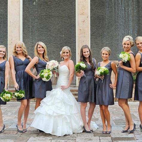 Dark gray bridesmaid dresses for Dark grey wedding dresses