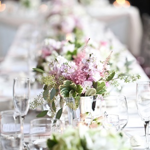 Pink Reception Centerpieces
