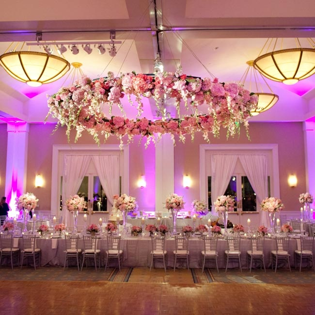 Pink wedding decorations romantic decoration for Floor decoration ideas