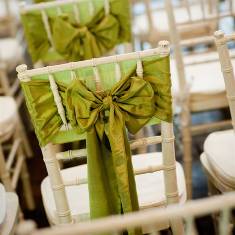 Chartreuse Green Ceremony Chair Covers