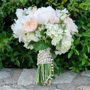 Rosary-Adorned Bouquet