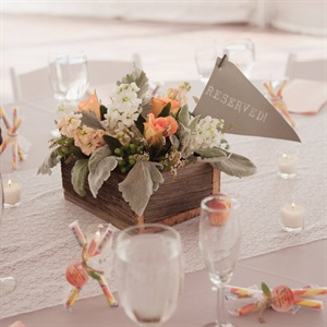 Peach Centerpieces