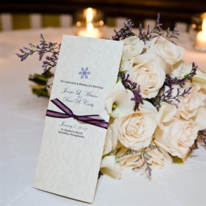 Elegant Winter Wedding Programs
