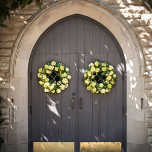 Wreaths on the Church Doors