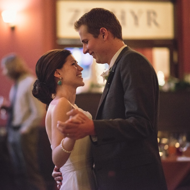 "The first dance song was chosen by the groom months in advance, ""Into the Mystic"" by Van Morrison"