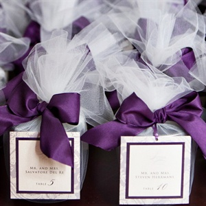 Elegant Purple Escort Cards
