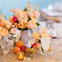 Bright Peach and Marigold Floral Centerpiece