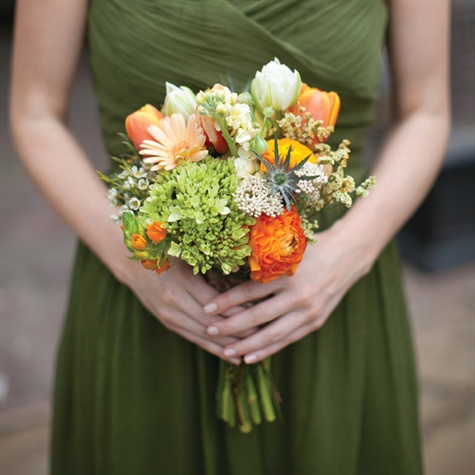 Bridesmaids' Fresh Bouquets