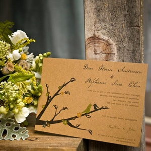 The couple designed their own wedding invitations.
