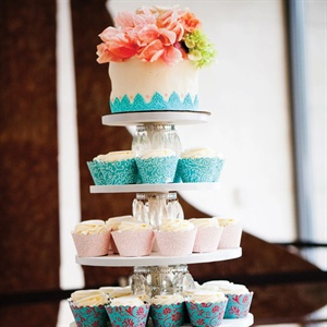 """When you go to weddings, the cake is the best part!"" says Claire, who chose cupcakes so guests had an ample serving of dessert."