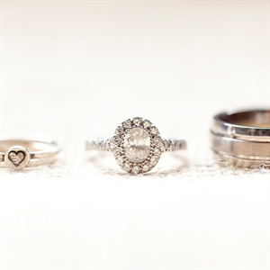 Allison and James wanted to include Allison's daughter in every aspect of the wedding including having a ring for her.