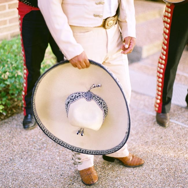 The moment Caroline and James were officially married, a mariachi band struck up a lively song.