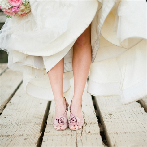 Blush Wedding Shoes