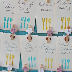 Blue and Gold Escort Cards