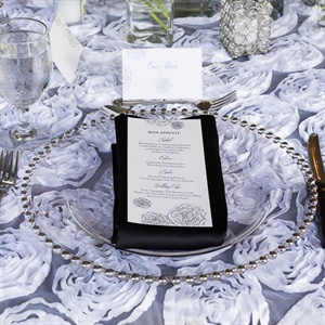 Black-and-White Place Settings
