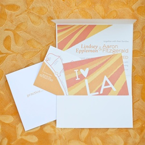 Orange and Yellow Wedding Invitations