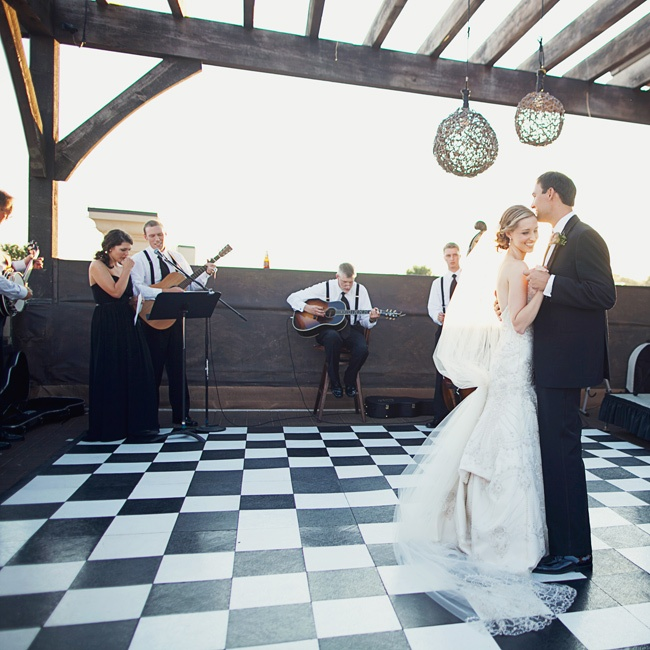 The song for their first dance was played and sung by family members and members of the bridal party for a personal memorable moment.