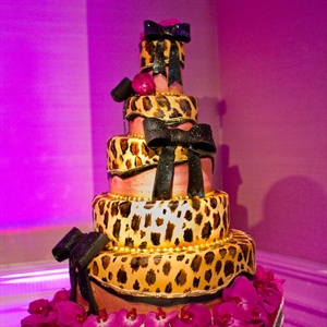 Leopard-Print Wedding Cake